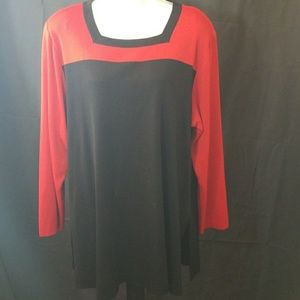 Like new Misook Long sleeve square neckline blouse